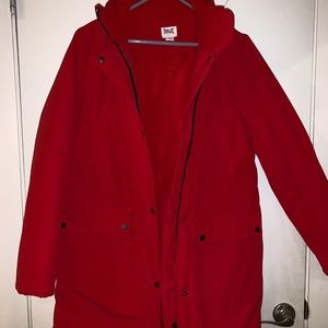 Everlast Red Long Down Coat